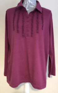 Ladies Raspberry Pink Long Sleeve Blouse By Marks & Spencer's Size 22