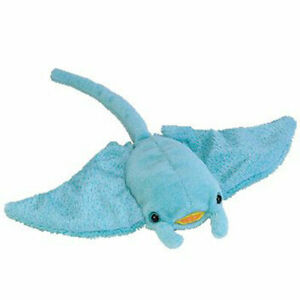 TY Beanie Baby - SUNRAY the Manta Ray (10 inch) - MWMTs Stuffed Animal Toy
