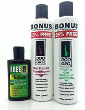 Doo GroTingling Gro Shampoo & Gro Repair Conditioner with Free Mega Therapy Oil