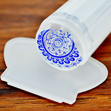2pcs Clear Jelly Nail Art Stamper Scraper Crystal Silicone Nail Art Stamping Kit
