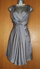 Karen Millen Grey Silky Marilyn Monroe Style Flare Tea Cocktail Dress UK12  EU40