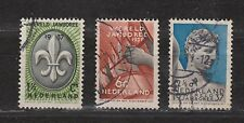 NVPH Netherlands Nederland 293 294 295 used 1937 Wereld Jamboree Vogelenzang