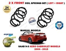 FOR SAAB 93 9-3 AERO MANUAL CABRIOLET 1.9 TID 2004-> 2 X FRONT COIL SPRINGS SET