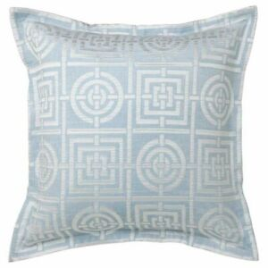 FLORENCE BROADHURST CIRCLES & SQUARES SKY EUROPEAN COVER PILLOWCASE NEW