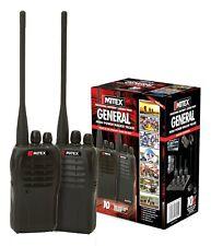 MITEX GENERAL TWIN PACK UHF 5W LICENSED HANDHELD TWO WAY RADIO