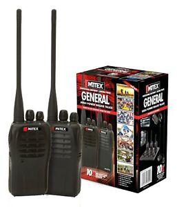 MITEX GENERAL TWIN PACK UHF 5W LICENSED HANDHELD TWO WAY RADIO (WALKIE TALKIES)