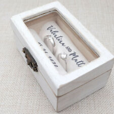 Personalized Wedding Ring Box Rustic Wood Ring Holder Engagement Ring Bearer Box