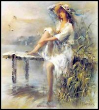 Waterside - Chart Counted Cross Stitch Patterns Needlework DIY DMC Color 14 ct
