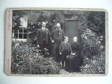 Victorian Cabinet Photo Family Group By cottage J Huff & Son Maryport Cumbria