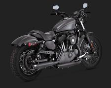 "Vance and Hines Twin Slash 3"" Mufflers 46861 For Harley Sportster 2014-2018"
