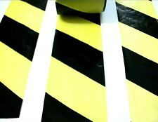 Black & Yellow barrier tape. 50 Metres. Hazard. Warning. Safety. *Non adhesive!