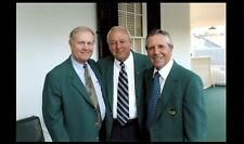 Jack Nicklaus Arnold Palmer PHOTO Gary Player Masters Augusta Golf Green Jacket