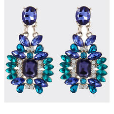 Fashion Design Charm Gem Flossy Crystal Statement Club Ear Studs Dangle Earrings