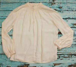 Monsoon Ladies Top Shirt Blouse Light Pink UK 12 100% Viscose