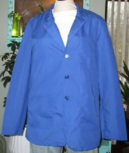 "Best Medical Wear Staff L/S Lab Coat Scrubs Uniform 30""  Royal Blue XS to 6X"