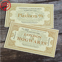 A PAIR Harry Potter Tickets Gryffindor Slytherin Hufflepuff Ravenclaw Gift Cards