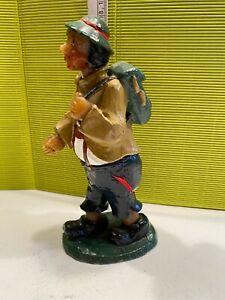 alte Figur Wachs Mann Wanderer Handarbeit