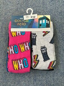 NEXT Ladies Multicoloured Pack Of 4 Pairs DR WHO Socks NEW RRP £12