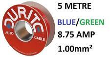 Núcleo Individual 1mm PVC CABLE COCHE 5 metros Durite 0-942-24 azul y verde