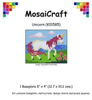 mosaicraft Pixel Basteln Mosaik Kunst Set 'Einhorn' pixelhobby