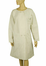 128779 Ewa I Walla Peasant Lagenlook Vintage Buttons Cotton Coat Jacket Dress XL