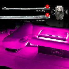 """4pc 36"""" Flex Strip + 4pc 10"""" Flex Strip Kit For LED Boat 7 Color Accent Light"""