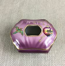 Vintage Art Deco Tissue Box Pot Dispenser Dressing Table Japanese Oriental VTG