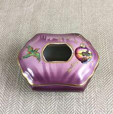 Vintage Art Deco Tissue Box Pot Dispenser Dressing Table Japanese Oriental VTG