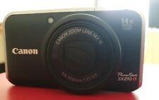 Canon PowerShot SX210 IS 14.1MP Digital Camera - Black. Excellent condition