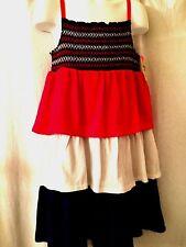 Dress OSHKOSH B'GOSH Red White Blue Smocked Sun Dress Girls Sz 6 NWT