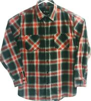 Akademiks Mens XL Plaids&Checks Cotton Button Front Red Black Long Sleeve Shirt