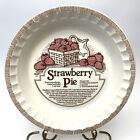 Vintage Royal China Stoneware Strawberry Pie Recipe Pie Serving Plate 11-Inch