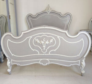 SUPERB QUALITY FRENCH ANTIQUE LOUIS XV STYLE DOUBLE BED