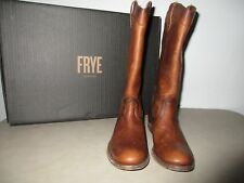 Frye Melissa Pull On Antiqued Leather Boots Cognac 75458 Size 8