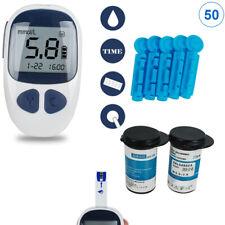 Blood Glucose Starter Kit Glucometer Sugar Meter Monitor Diabetes+50*test strip