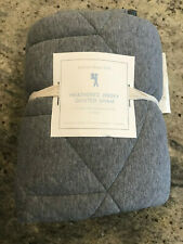 Pottery Barn Kids Heathered Jersey Euro Sham in Gray New