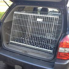 PET WORLD HYUNDAI TUCSON SLOPING CAR DOG CAGE BOOT TRAVEL CRATE PUPPY SLOPED