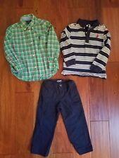 Lot Ralph Lauren Janie & Jack Boys Fall Button Polo Shirts Pants Clothes 2T 3T