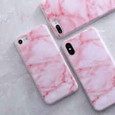 For iPhone X 8 7 6S Plus Retro Granite Marble Pattern Rubber Soft TPU Case Cover