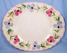 Blue Ridge Southern Pottery Sweet Pea Platter Oval Colonial Serving 14in Vintage