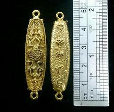 Thai Amulet Billionaire Leech Gold Color Phra Arjarn O, Lucky Rich Wealth Charm