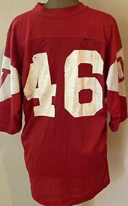 Vintage 70's Del Valle High Walnut Creek California Trojans Football Jersey #46