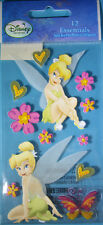 NEW 12 pc. TINKERBELL Fairy Hearts Flowers Tink  3D Stickers  DISNEY SANDYLION