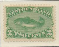 Newfoundland (Canada) Stamp Scott #47, Mint Hinged, Half Original Gum