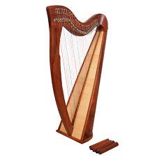 Muzikkon 28 String Claddagh Rosewood Harp, Quality Celtic Harp with Levers Sale