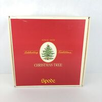 Spode CHRISTMAS TREE 5 Piece Place Setting S3324 Made in England Plate Cup