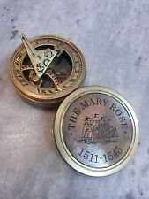 Antique Solid Brass Sundial Compass Marine Compass The Mary Rose