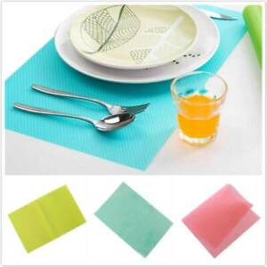 Non-Slip Oil-Proof Waterproof Dining Table Mat Pad Liner Placemat Washable