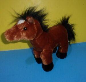 "Ganz Webkinz Brown Arabian HM101 Stuffed Animal Toy No Code Plush Horse 9"" Doll"