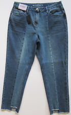 New Womens Blue Relaxed NEXT Crop Jeans Size 14 Regular RRP £32 DEFECTS